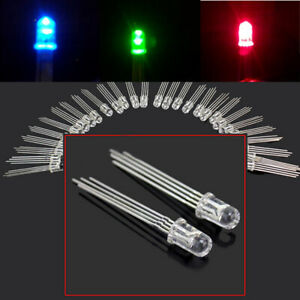 50-Pcs-Ultra-Bright-5mm-4-pin-RGB-Water-Clear-Common-Anode-LED-Red-Green-Blue