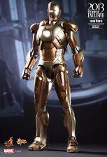 HOT TOYS Sideshow Iron Man 3 Movie Mark 21 XXI MIDAS 1:6 Scale Gold Armor-SEALED