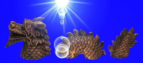 Aquarium Deko 3tlg. ❤️ 30 cm NESSY FIGUR ❤️ Dekoration Terrarium Zubehör Drachen