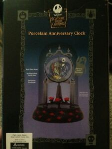 image is loading nightmare before christmas porcelain anniversary jack amp sally - Nightmare Before Christmas Clock