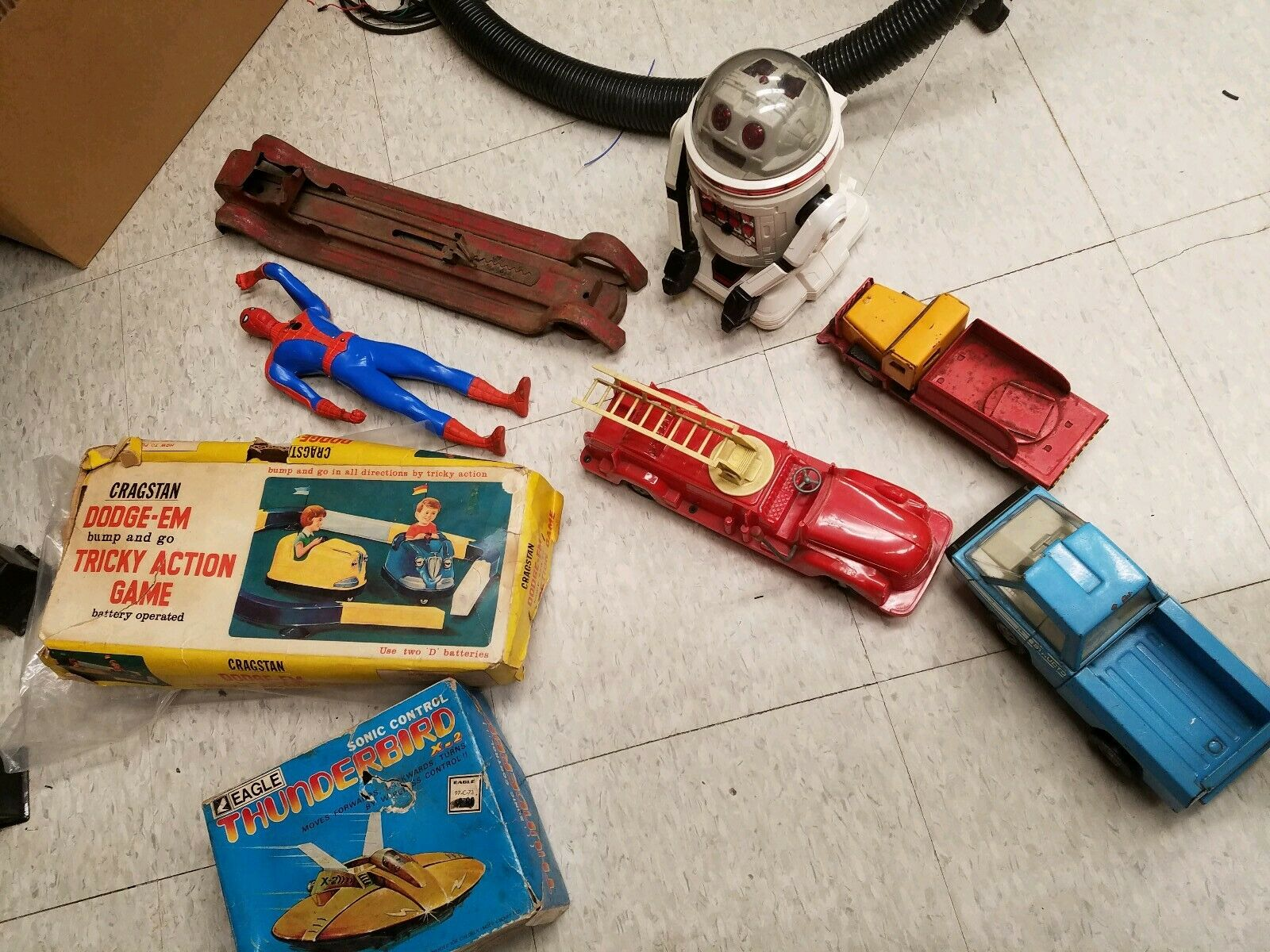 Tin Toy Antique Toy Lot Cragstan Marx Spider Man Vintage Toy Lot tin toy lot