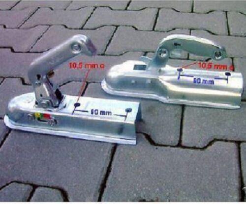 Kupplungsmaul Zugkugelkupplung Zugmaul 750kg eckig 60mm Deichsel