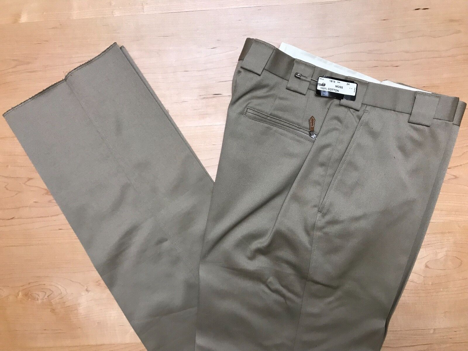 Maus & Hoffman by Hertling Trouser. 100% Cotton   Moss fit   Size 34   1815