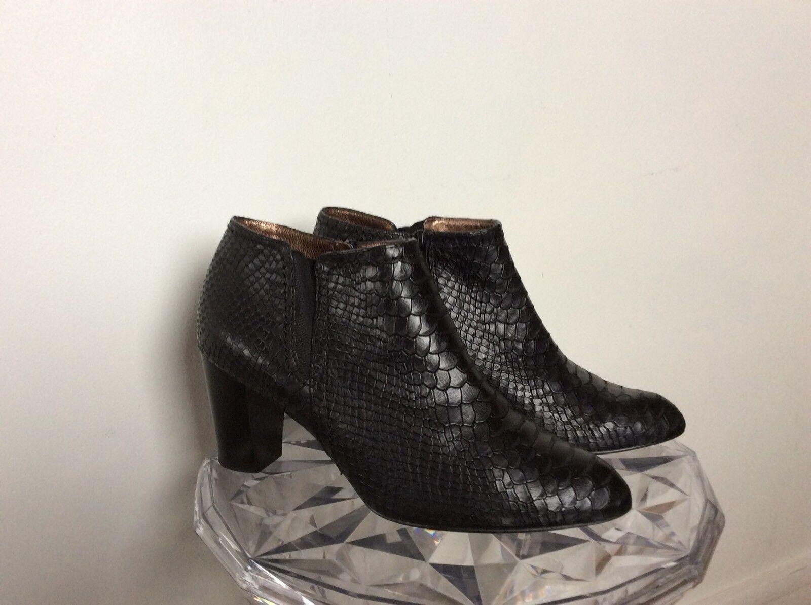 Miglior prezzo Très Belles Low Low Low stivali WALTER STEIGER neroes Façon Python, Excellent Était, P38,5  fino al 60% di sconto