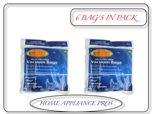 213842 3 pack Generic Dust Bags  for Zing Bagged Canister Vacuums BAGS # 820