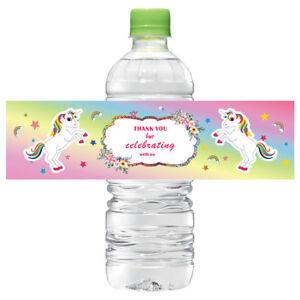 12-Unicorn-Water-Bottle-Label-Sticker-Labels-Baby-shower-Birthday-Party-Decor