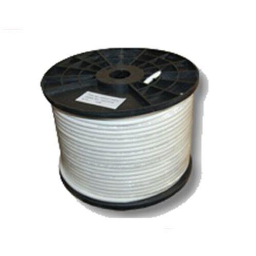 Hochwertiges Koaxial Kabel 7mm 2 fach geschirmt Folie Geflecht 100 M 0,26€//1m