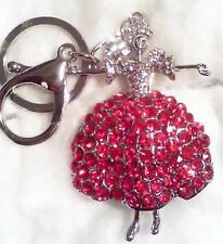 Ballerina in Red Rhinestone Covered Skirt New Free Delivery