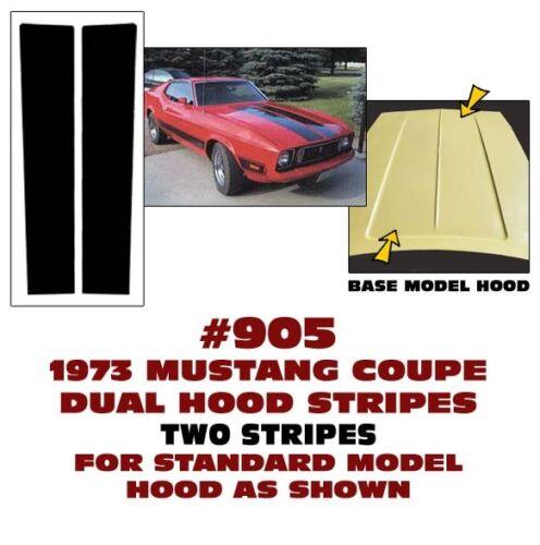 DUAL HOOD STRIPES BASE MODEL 905 1971-73 MUSTANG COUPE FASTBACK CONVERTIBLE