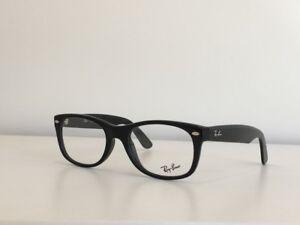 7615dd117f A96 Ray Ban RB 5184 2000 Rectangle Black Eyeglasses Optical Frame 52 ...