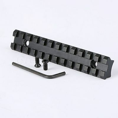 Compact 125mm Picatinny Weaver Rail Scope Mount Base 20mm 12 Slots for Rifle Gun