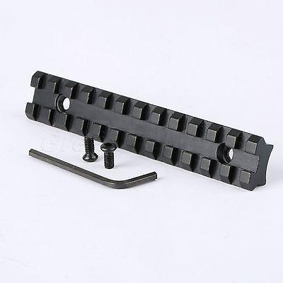 Compact 125mm Picatinny Weaver Rail Scope Mount Base 20mm 12 Slots for Rifle Gun