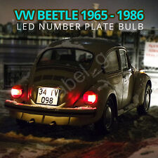 VW Beetle Classic Old 1965-1986 Xenon White COB LED Number Plate Light Bulb