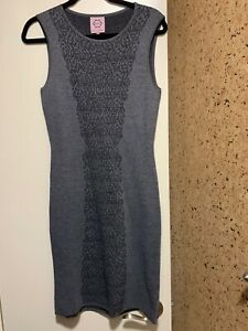 NWOT Nanette Lepore Women Gray Casual Sleeveless Sheath Dress S