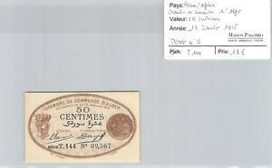 Billet France / AlgÉrie - Chambre De Commerce D'alger - 50 Cts 13.1.1915 *** Vf2krc3s-07215746-774140837