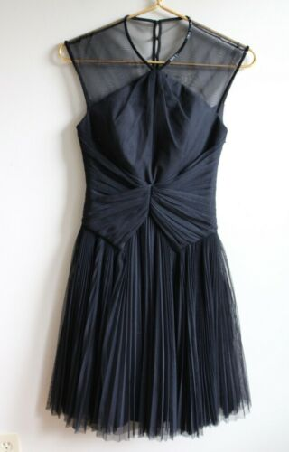 Ted Baker 0 Trixxy Black Tulle Pleated Evening Coc