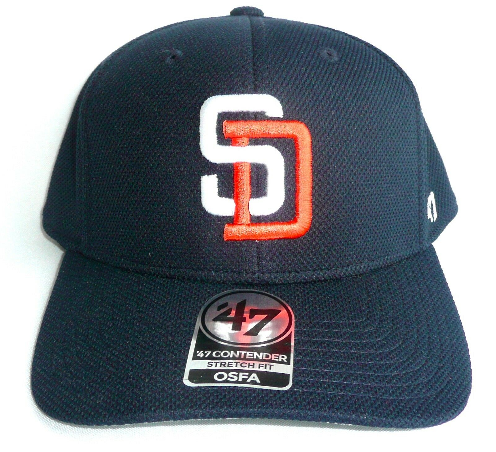 official photos b68a1 0fdd2 ... spain san diego padres fit 47 brand contender stretch fit padres hat cap  mlb forty seven