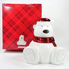 """Slatkin & Co. Bath & Body Works PAWS THE POLAR BEAR 8.5"""" Candle Holder NWT"""