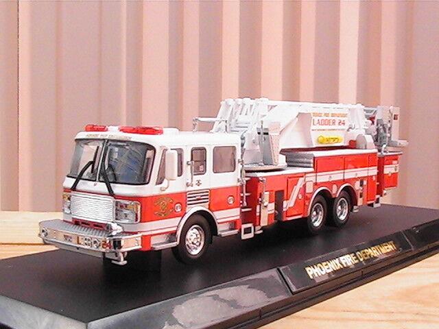 CODE 3 PHOENIX FIRE DEPARTMENT AMERICAN LAFRANCE LADDER 24 échelle 1 64 ème NEUF