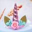 UNICORN-Theme-Cake-Topper-Handmade-Cute-Horn-Ears-Flower-Birthday-Party-Decor thumbnail 13