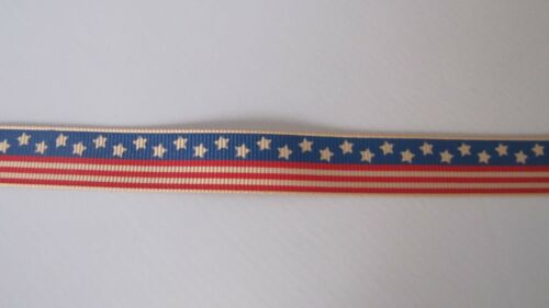 """By the Roll 5//8/"""" Patriotic Grosgrain Ribbon"""