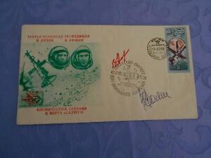 Sojus 32 Space Mail original Crewsigniert Space