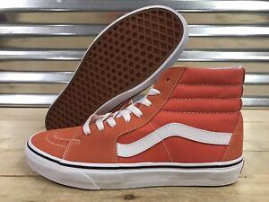 fccca1f2fc Image is loading Vans-Sk8-Hi-Canvas-Skate-Shoes-Emberglow-Orange-