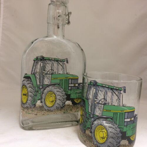Tractor John Deere 500 ml Botella Endrina Gin Flip Top y Cristal