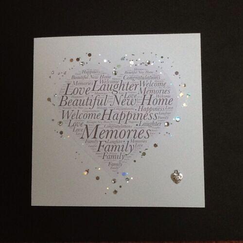 NEW HOME Keepsake WELCOME-Beautiful Hand Made Card MOVING HOUSE