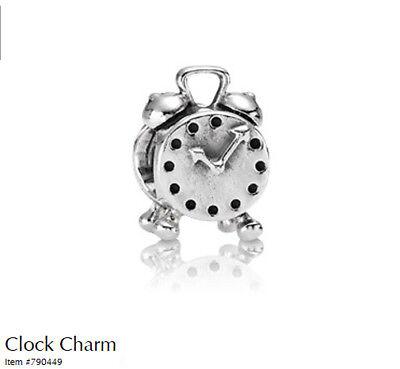87a6d772f Genuine Pandora Silver Clock Charm - 790449 for sale online | eBay