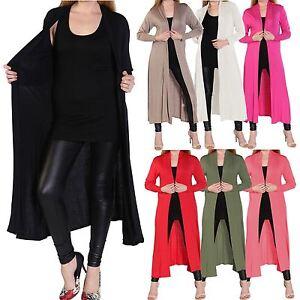 Ladies Womens Plus Size Open Front Floaty Abaya Style Kimono Maxi ...