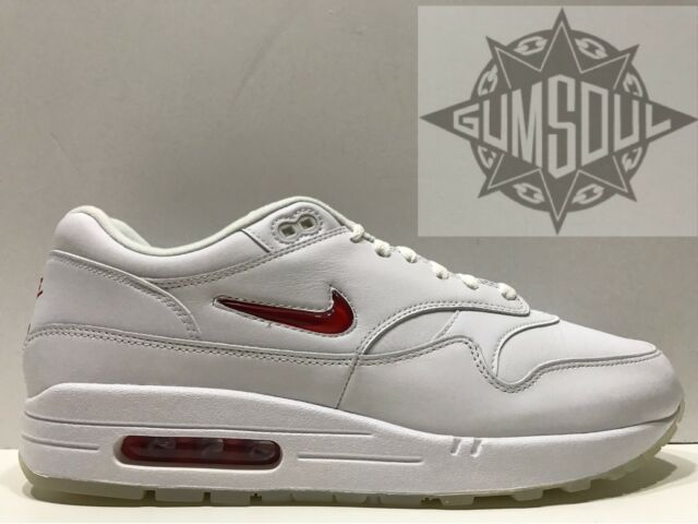 NIKE AIR MAX 1 PREMIUM SC JEWEL RUBY UNIVERSITY RED WHITE 918354 104 sz 12.5