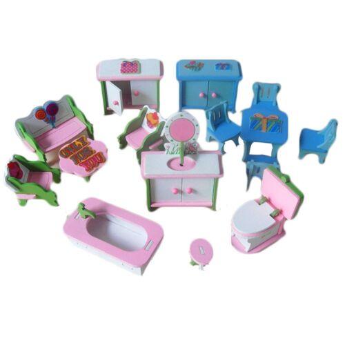 Mini Maison de poupée prétendre En bois Jouet Ménage Jouet Simulation Meubles