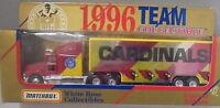 Kkar Matchbox/wr - 1996 Convoy - Ford Aeromax - Red & Yellow - Cardinals