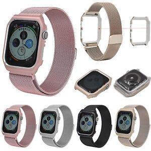 For-Apple-Watch-Series-4-40-44mm-Milanese-Mesh-Metal-Bracelet-Band-Strap-Case