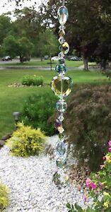 Healing Green Heart Crystal Suncatcher/Prisms W/Feng Shui Crystal Ball USA