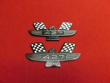 Pair Of New Abs 1963 1964 Ford Mercury Bird Crossed Flag 427 Fender Emblems