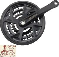 Sr Suntour Xr 175mm 28t/38t/48t 8-speed Black Mtb Square Taper Bicycle Crank