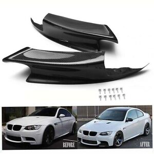 2Pcs-Carbon-Fiber-Front-Bumper-Lip-Splitter-Spoiler-for-BMW-E92-E93-M3-07-12