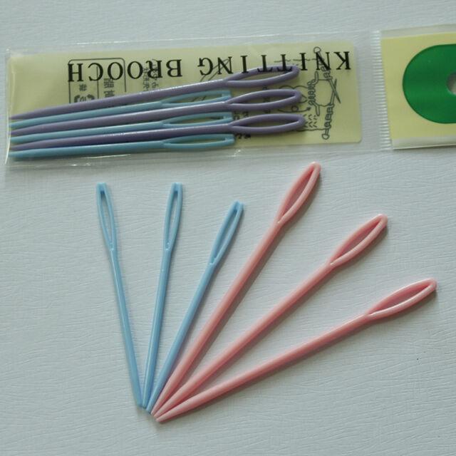 6X 7/9cm Child Plastic Sewing Cross Stitch Seamed Knitting Wool Weave Needle  O1