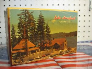 Lake Arrowhead San Bernardino California Souvenir Decoupage Cedar Trinket Box