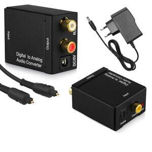 RCA-Digital-to-Analog-Fiber-Toslink-Adapter-For-Amplifier-Soundbar-Speaker-HDTV