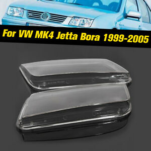 2x-Replacement-Plastic-Headlight-Lenses-Cover-Fit-for-VW-Jetta-MK4-Bora-99-04-UK