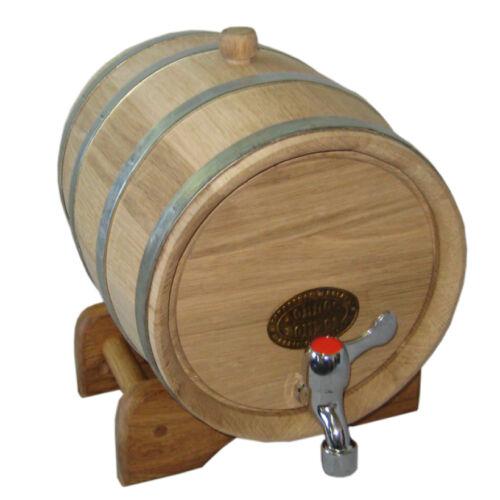 1,3 Gallon NEW NOW THICKER WOOD Europe Oak Rum Whiskey Barrel Beer Keg Wine Cask