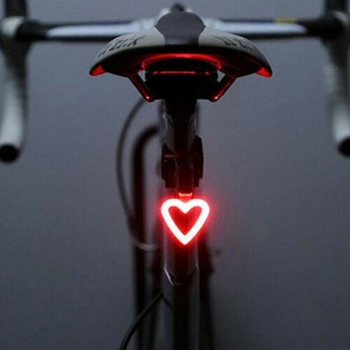 Rechargeable Bike Rear Tail Light USB LED Bicycle Warning Safety Smart Lamp New
