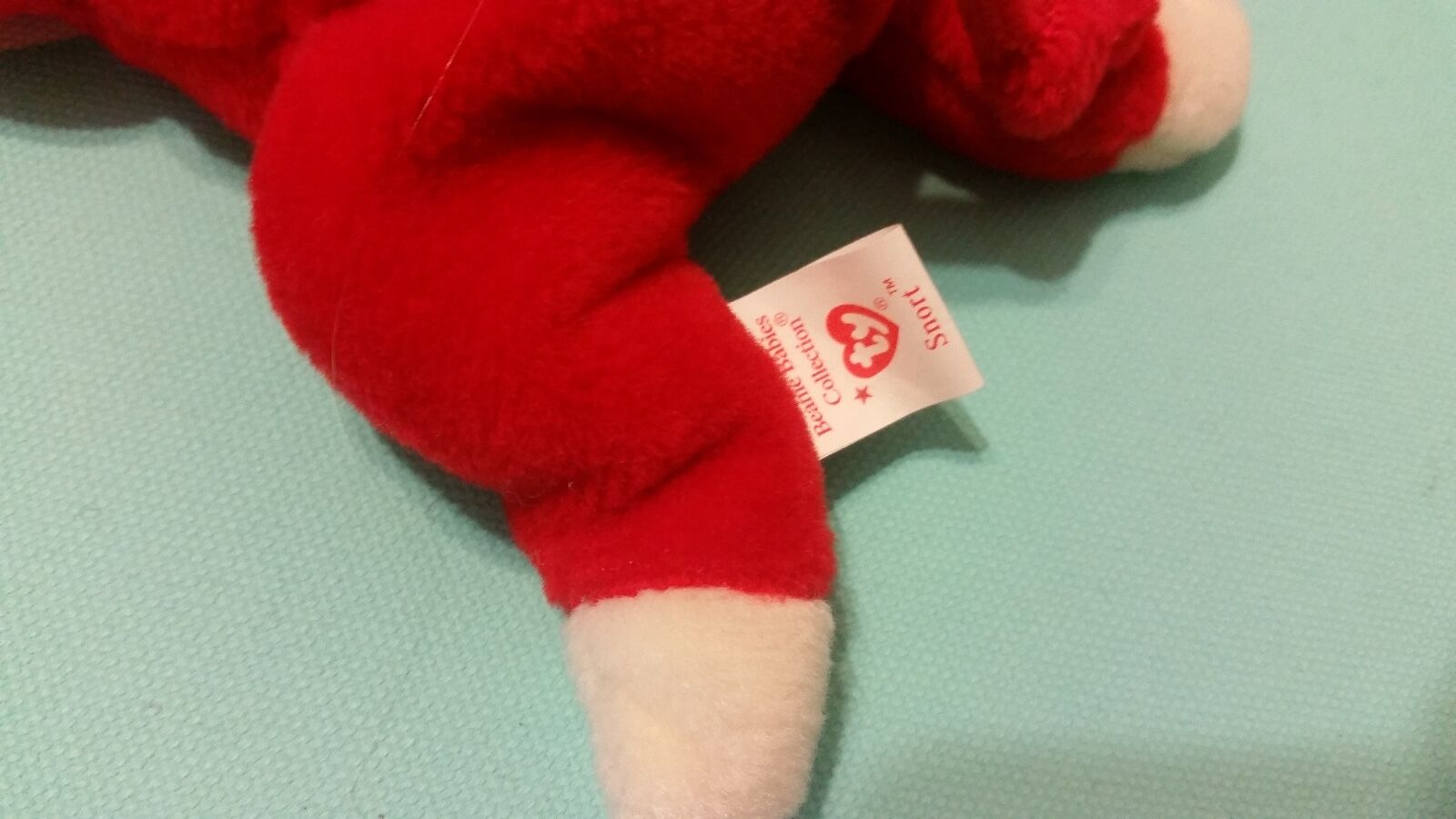 RETRIED RETRIED RETRIED ty beanie baby- SNORT with TAGS    No Damage. Clean.  No Stains 990a5e