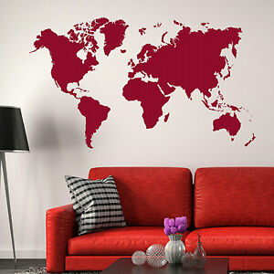 image is loading world map wall stickers earth vinyl transfer graphic