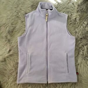Women-039-s-Woolrich-Full-Zip-Up-Vest-Sweater-Fleece-Jacket-Small-S-Lilac-Purple-EUC