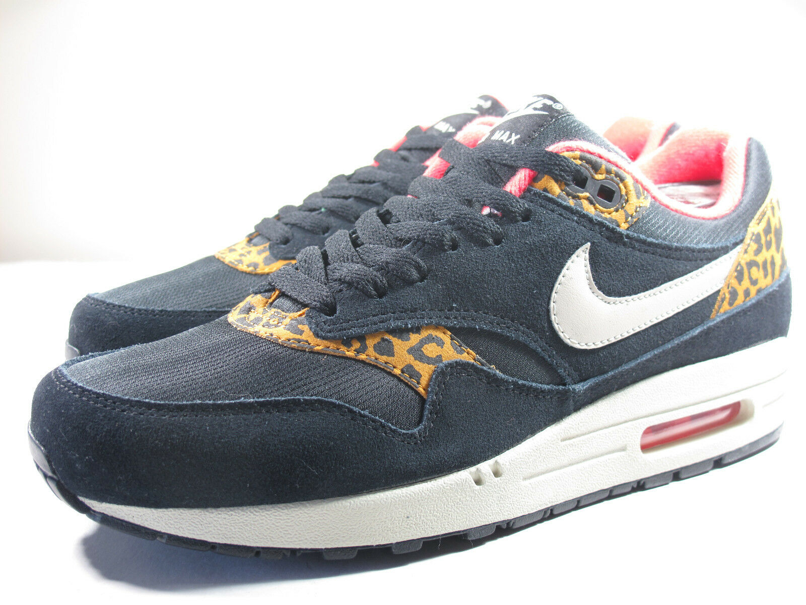 DS NIKE 2012 AIR MAX 1 BLACK LEOPARD M 8  W 9.5 ATMOS PATTA CAMP 180 90 95 93