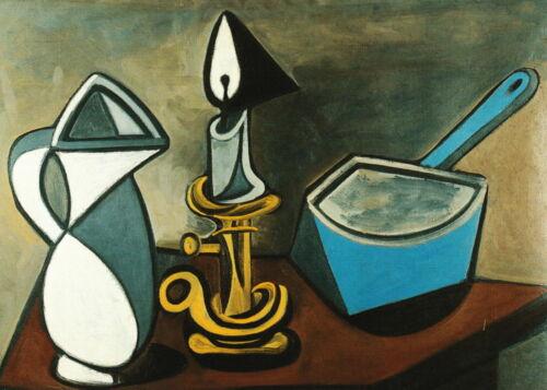"""Kunstkarte Pablo Picasso /""""Stillleben mit emailliertem Topf/"""""""